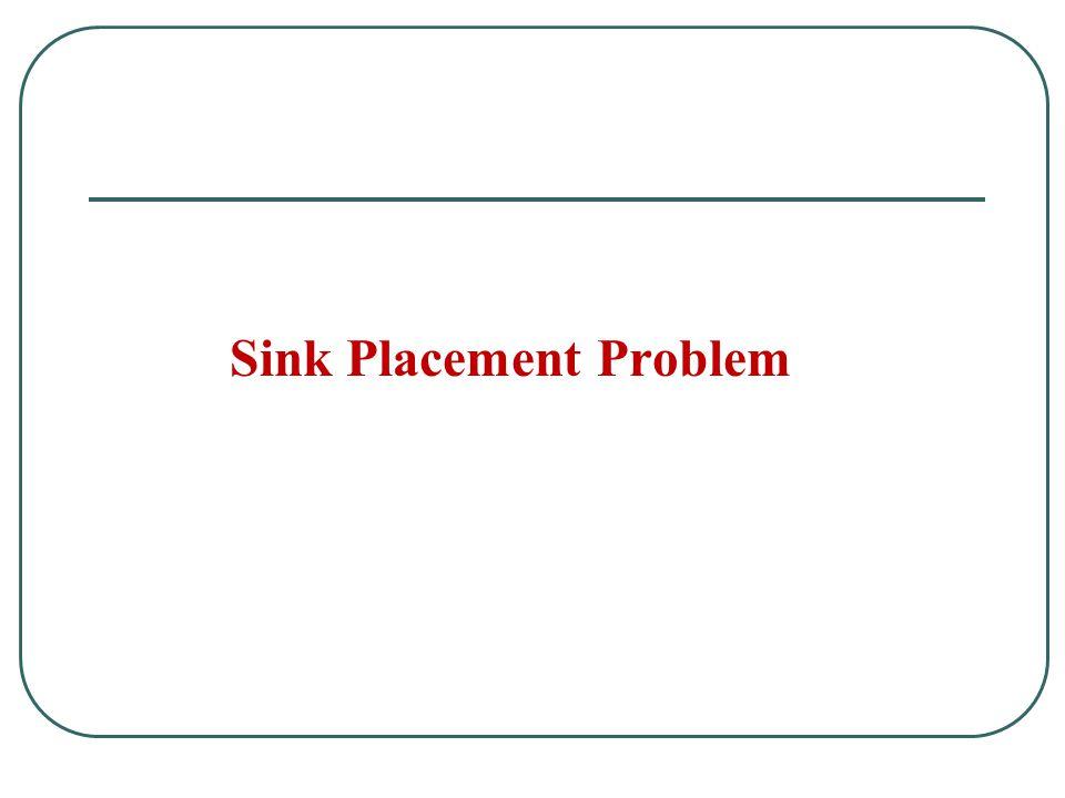 Sink Placement Problem