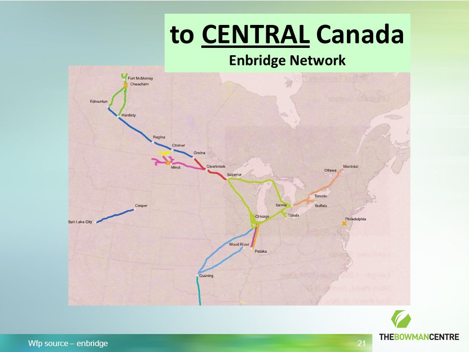 Wfp source – enbridge 21 to CENTRAL Canada Enbridge Network