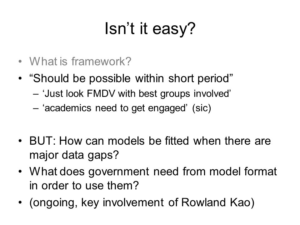 Isn't it easy. What is framework.