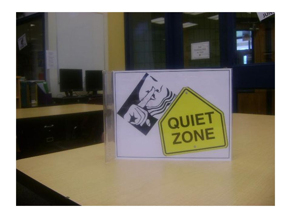 The Reading Room Our Quiet Zone