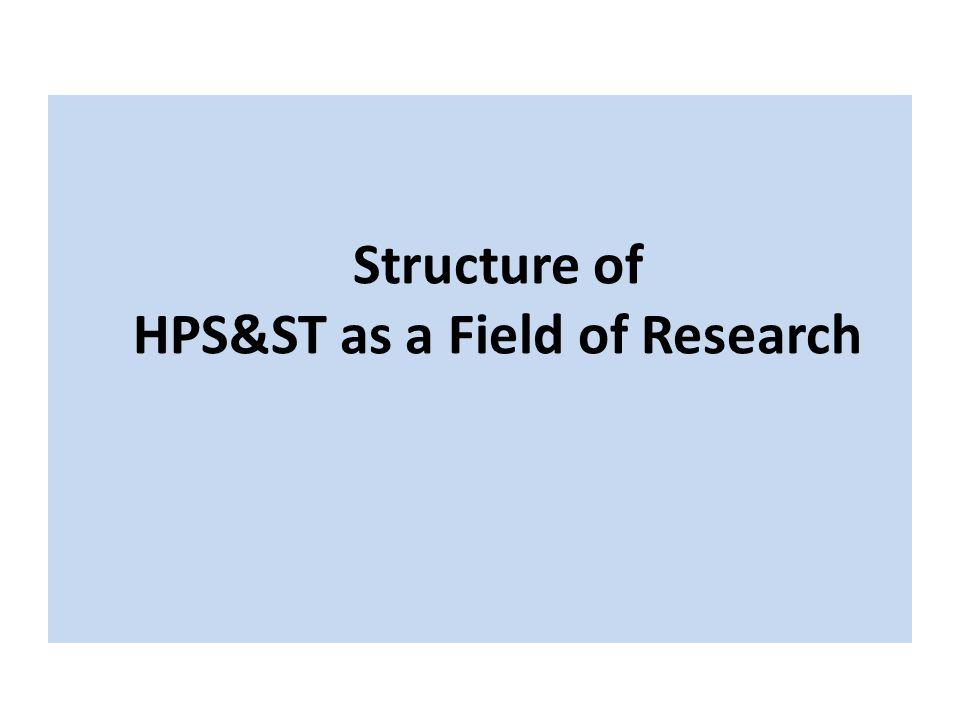 Structure of HPS&ST as a Field of Research