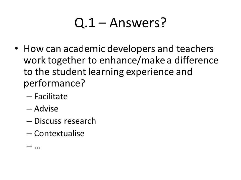 Q.1 – Answers.