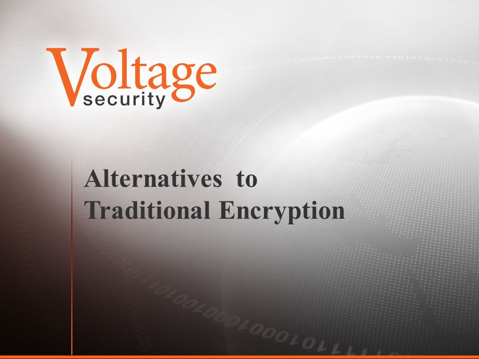 Alternatives to Traditional Encryption