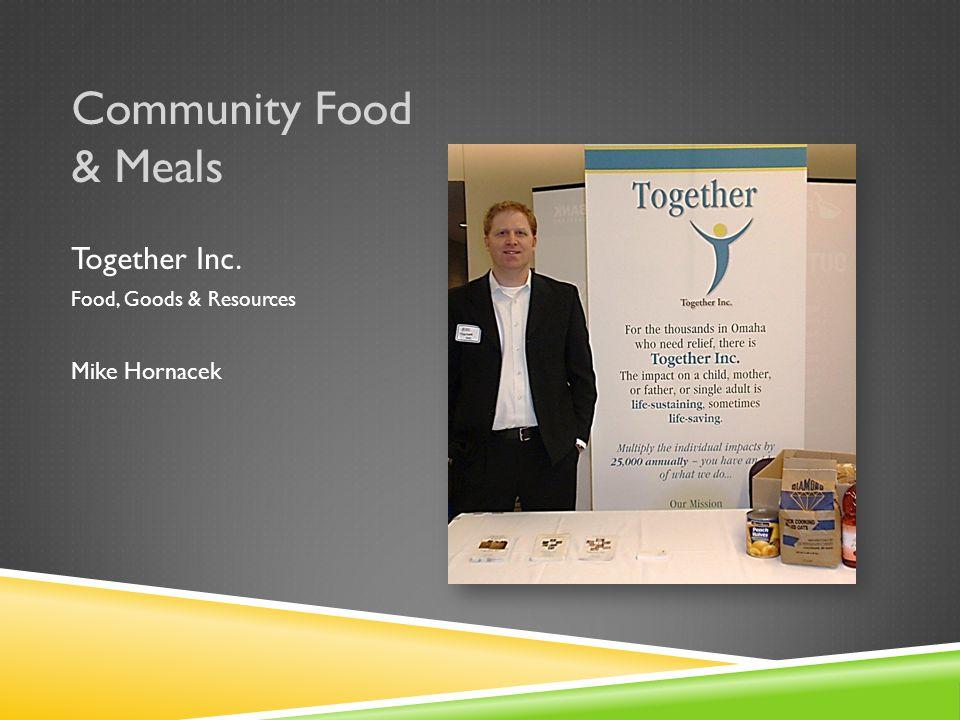 Community Food & Meals Open Door Mission Food & Meals Cris Morris