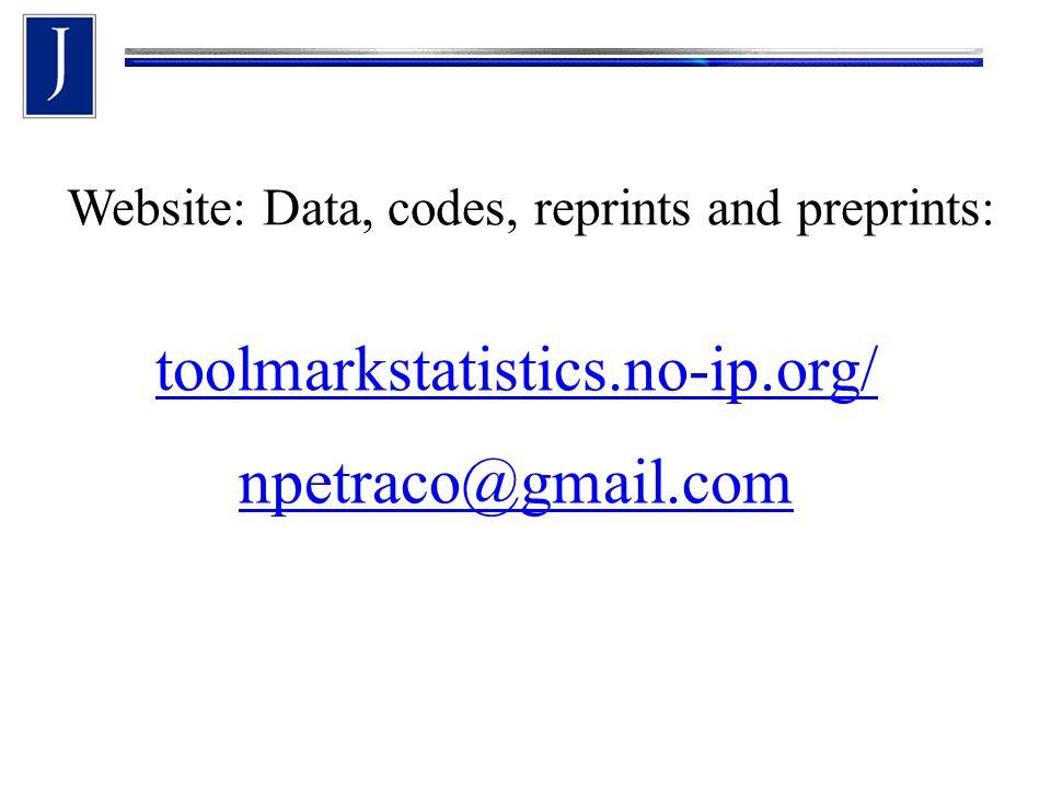 Website: Data, codes, reprints and preprints: toolmarkstatistics.no-ip.org/ npetraco@gmail.com