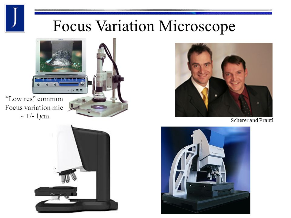 Focus Variation Microscope Scherer and Prantl Low res common Focus variation mic ~ +/- 1  m