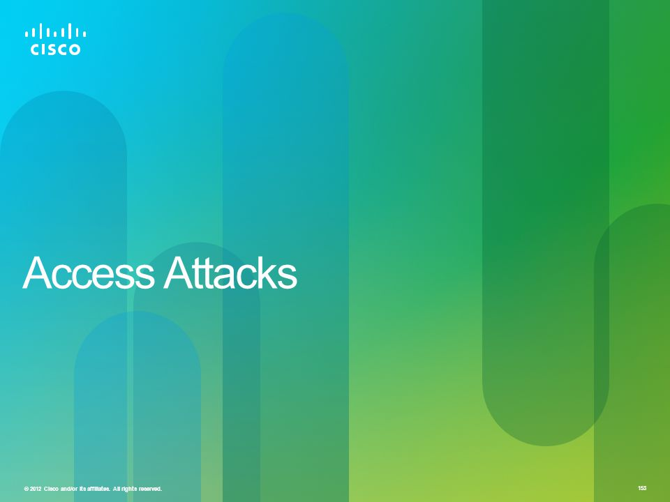 © 2012 Cisco and/or its affiliates. All rights reserved. 153 Access Attacks
