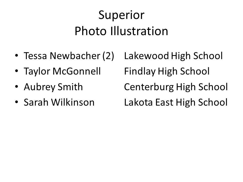 Superior Photo Illustration Tessa Newbacher (2)Lakewood High School Taylor McGonnellFindlay High School Aubrey SmithCenterburg High School Sarah Wilkinson Lakota East High School