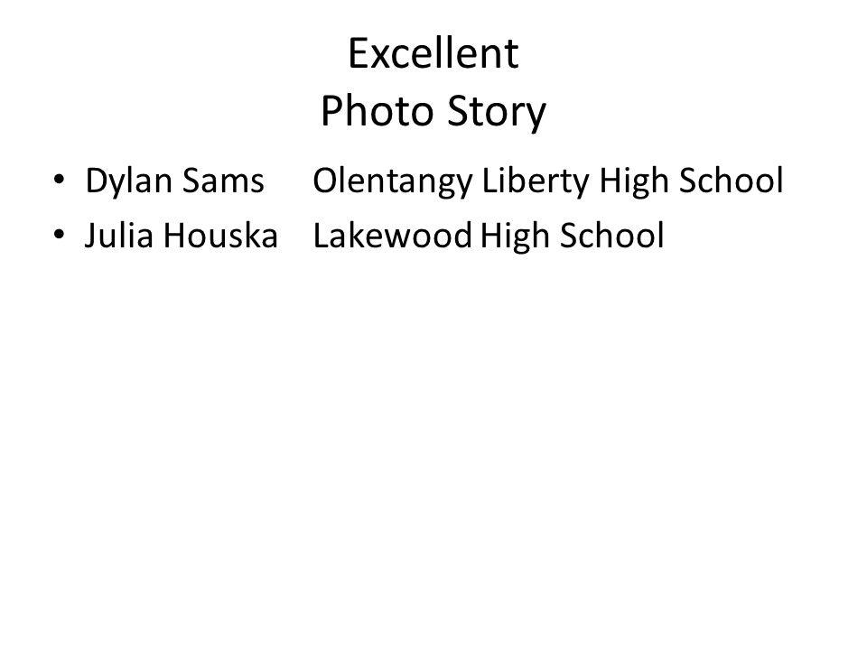 Excellent Photo Story Dylan SamsOlentangy Liberty High School Julia HouskaLakewood High School