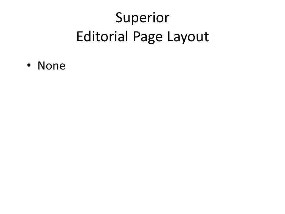 Superior Editorial Page Layout None