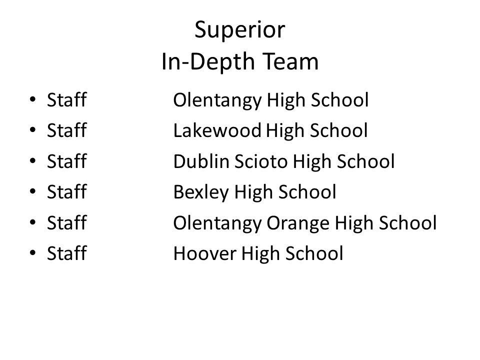 Superior In-Depth Team StaffOlentangy High School StaffLakewood High School StaffDublin Scioto High School StaffBexley High School StaffOlentangy Oran