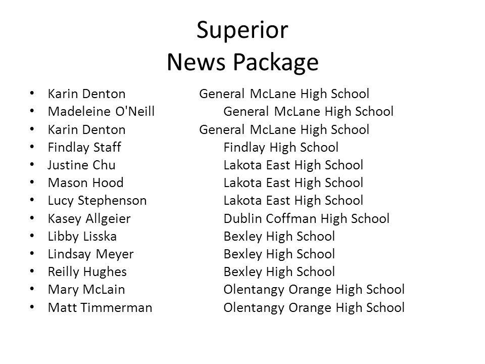 Superior News Package Karin DentonGeneral McLane High School Madeleine O'Neill General McLane High School Karin DentonGeneral McLane High School Findl