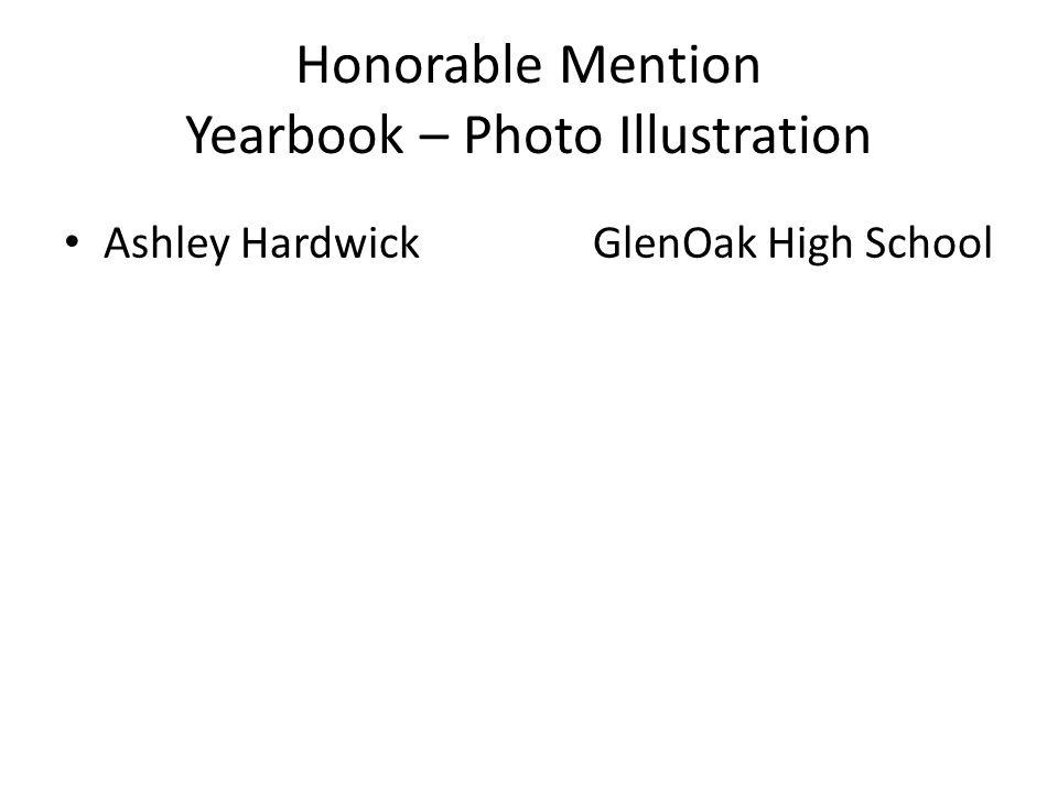 Honorable Mention Yearbook – Photo Illustration Ashley HardwickGlenOak High School