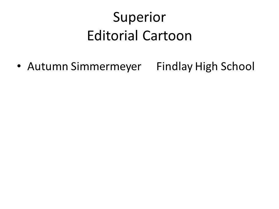 Superior Editorial Cartoon Autumn SimmermeyerFindlay High School