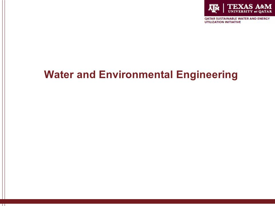 Water and Environmental Engineering
