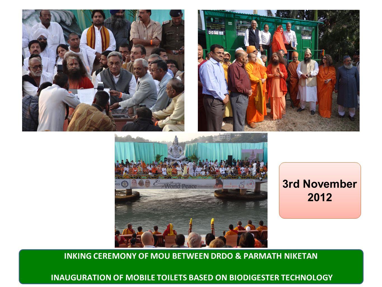 DRDO Bio Digester for clean Ganga Initiative 3rd Nov 2012 DRDO Technology for Clean Ganga Initiative