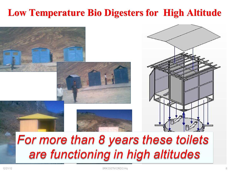 DRDO Bio Digester for Civil Applications 12/21/12SRK DI2TM DRDO Hq7