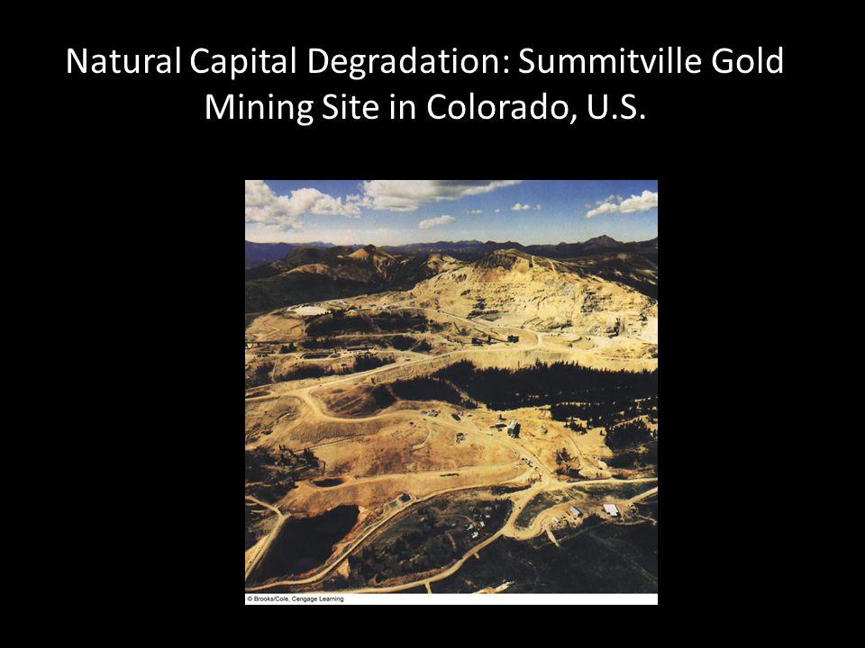 Natural Capital Degradation: Summitville Gold Mining Site in Colorado, U.S.