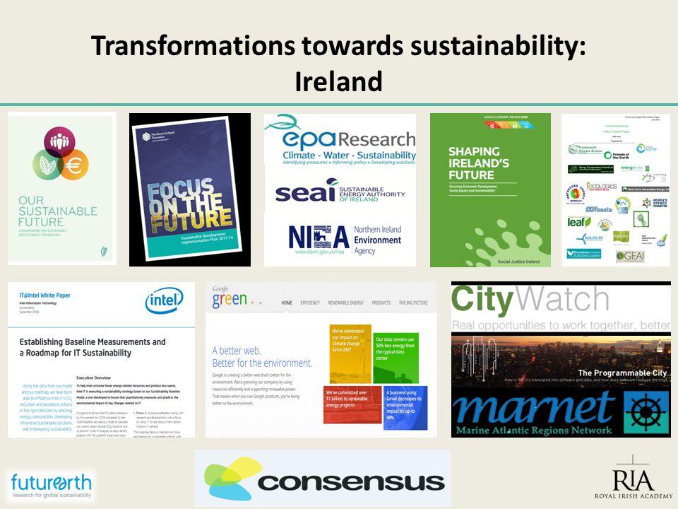 Transformations towards sustainability: Ireland