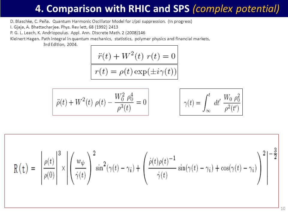 10 4. Comparison with RHIC and SPS (complex potential) D.