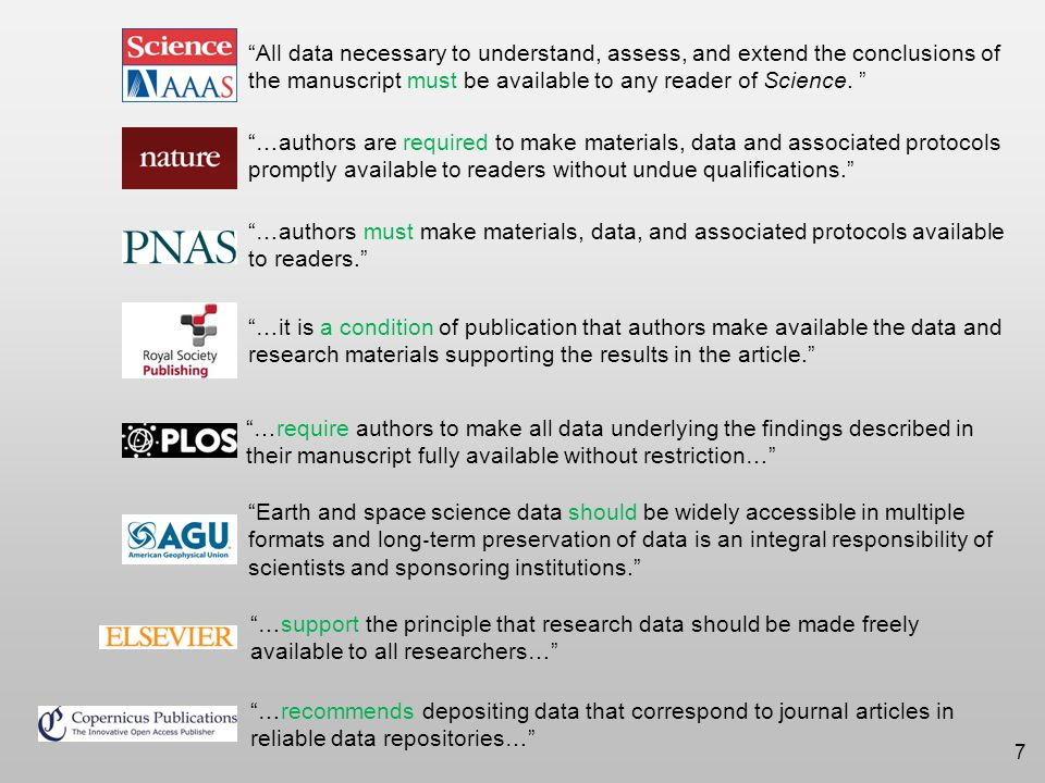 TWC Ways of data publication –Data as supplemental material of a paper –Standalone data –Data paper: data in a repository + descriptive 'data paper' 8 Strasser, GeoData 2014 Workshop Presentation (2014) Examples: Standalone data journals: Nature Scientific Data, Geoscience Data Journal, Ecological Archives, Data in Brief … Journals that publish data papers: Earth and Space Science, GigaScience, F1000 Research, Internet Archaeology …