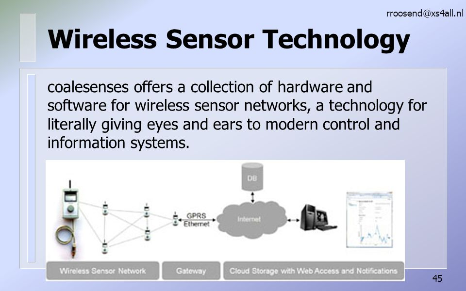Wireless Sensor Technology coalesenses offers a collection of hardware and software for wireless sensor networks, a technology for literally giving eyes and ears to modern control and information systems.