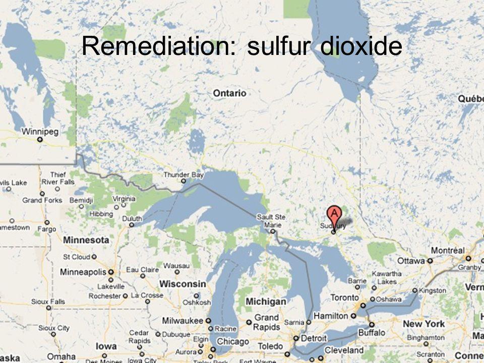 Remediation: sulfur dioxide