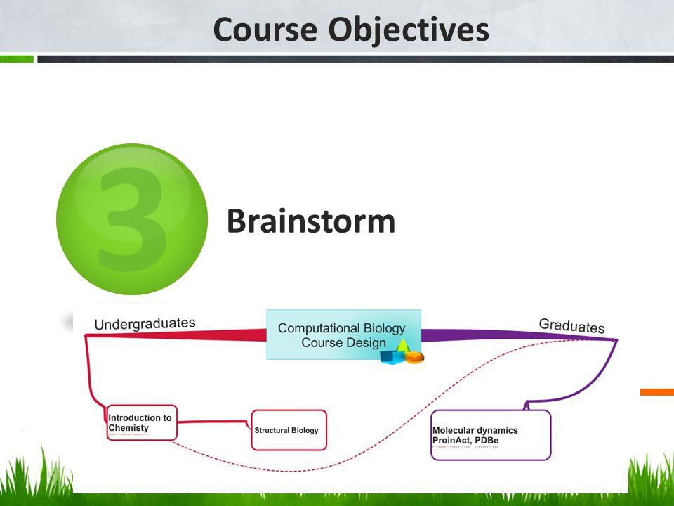 3 Course Objectives Brainstorm
