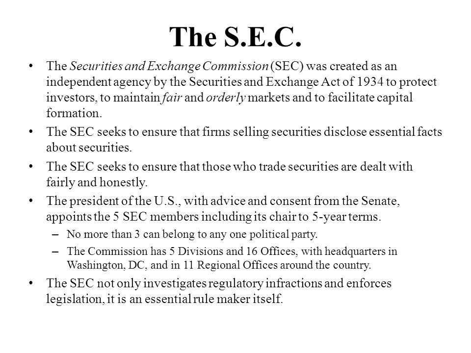 The S.E.C.