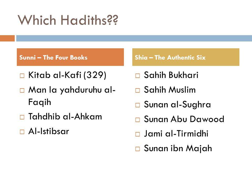 Which Hadiths .