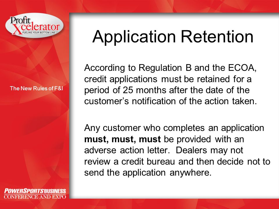 The new rules of fi with peter jones the new rules of fi what the new rules of fi application retention according to regulation b and the ecoa credit reheart Choice Image