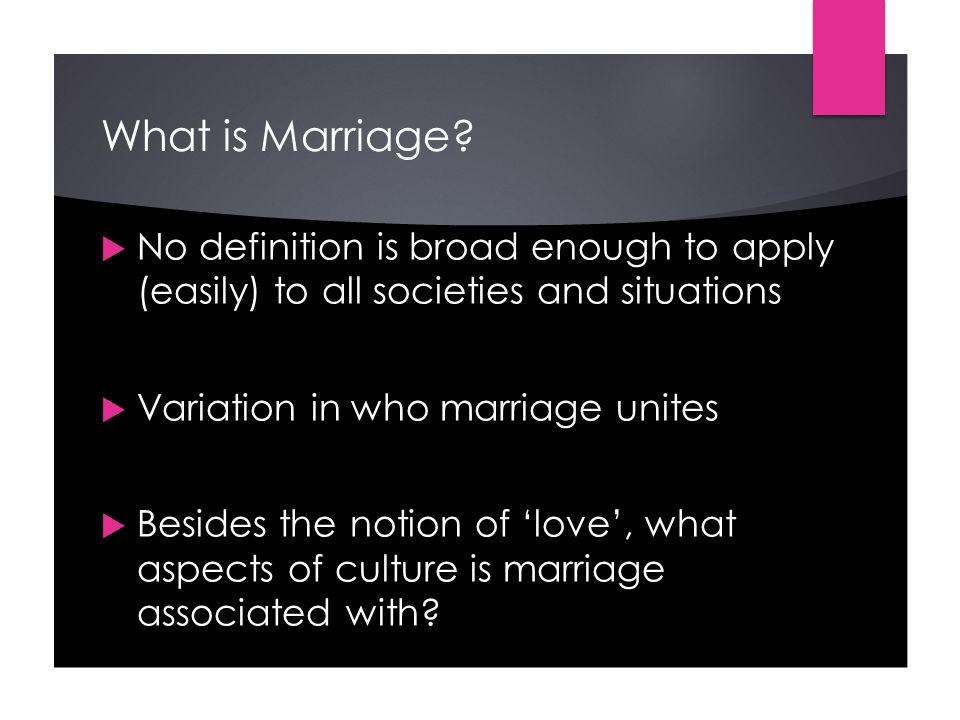 What is Marriage.