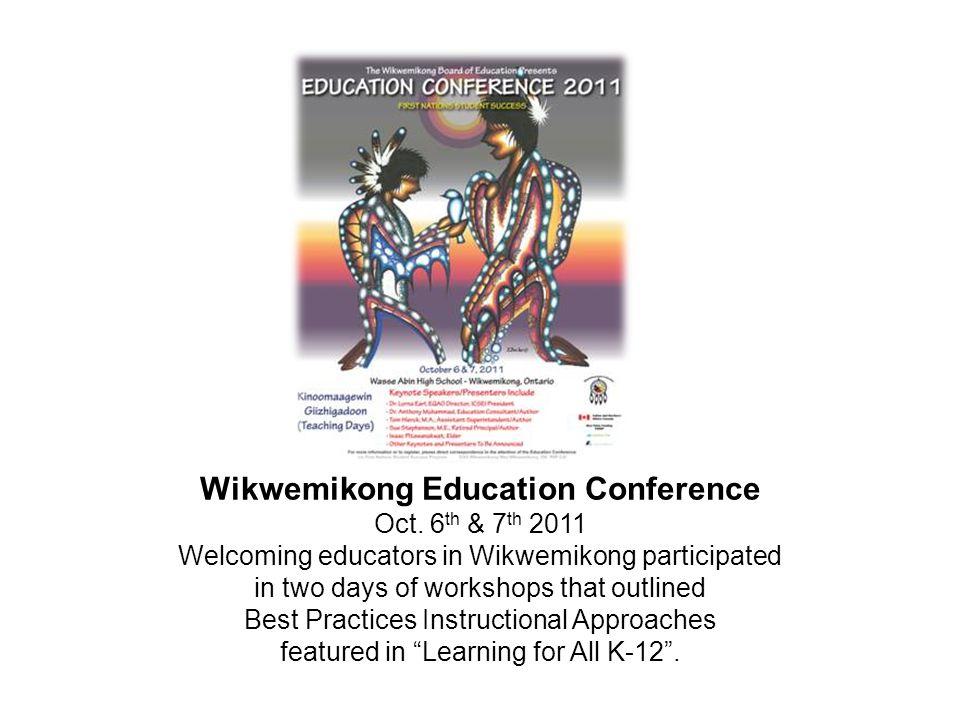 Wikwemikong Education Conference Oct.