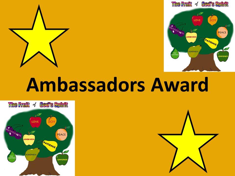 Foundation Stage Ambassador Nominations Preston Rawson Millie Dickens William Brown Ella Clubley