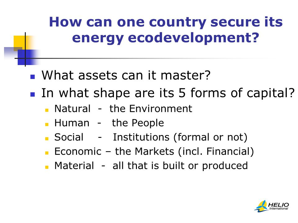 How can one country secure its energy ecodevelopment.