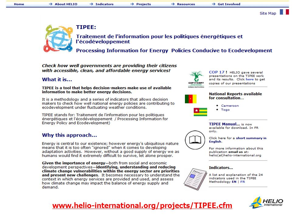 PUT in New Screen shot www.helio-international.org/projects/TIPEE.cfm