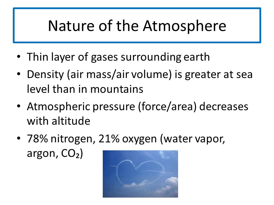 Layers of Atmosphere Troposphere: layer closest to earth (extends 11 miles above surface) -responsible for weather, climate, greenhouse effect Stratosphere: layer surrounding troposphere (extends 30 miles above troposphere) -ozone layer: protects earth from too much of sun's UV radiation