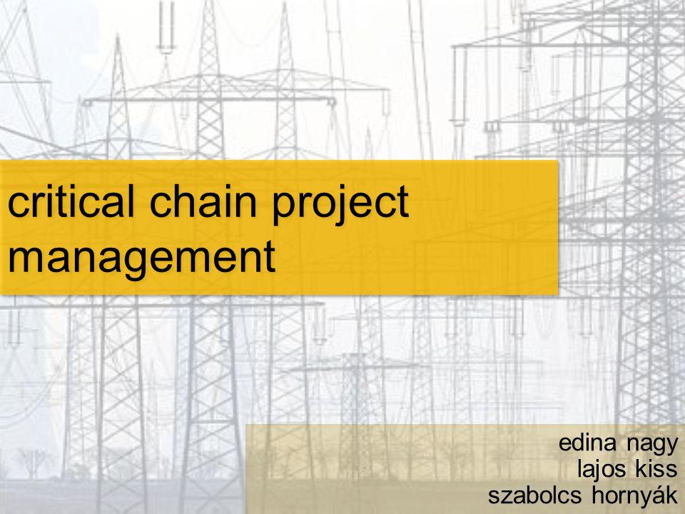 critical chain project management edina nagy lajos kiss szabolcs hornyák