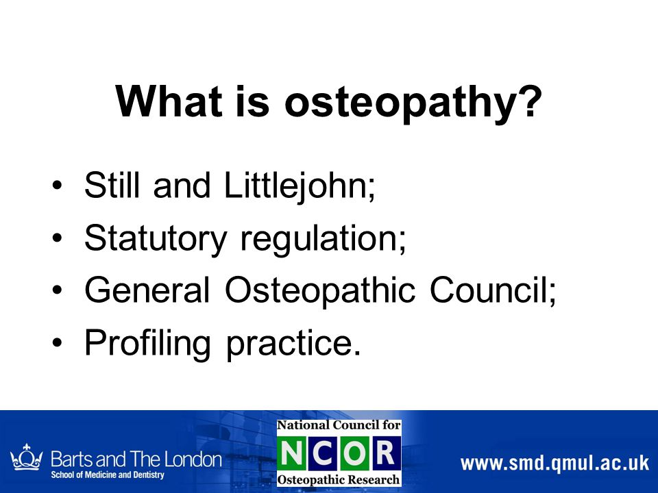 What is osteopathy.