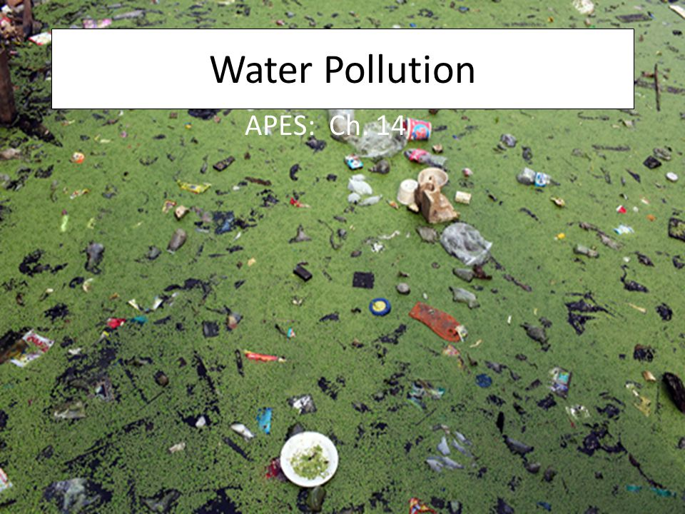 Water Pollution APES: Ch. 14