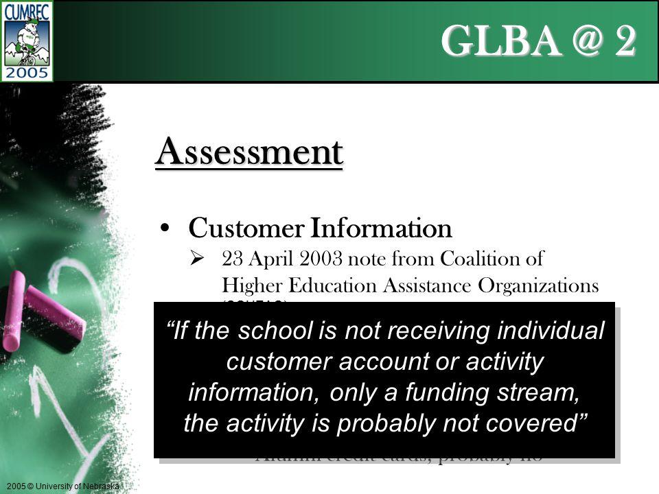 GLBA @ 2 2005 © University of Nebraska What the %#!_& does that mean
