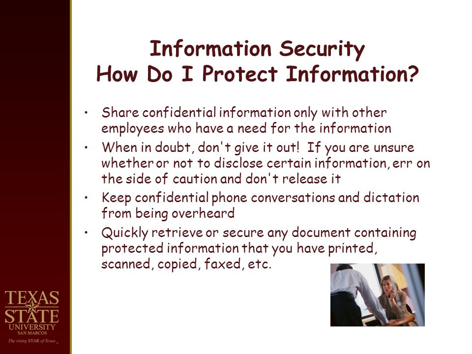 Information Security How Do I Protect Information.