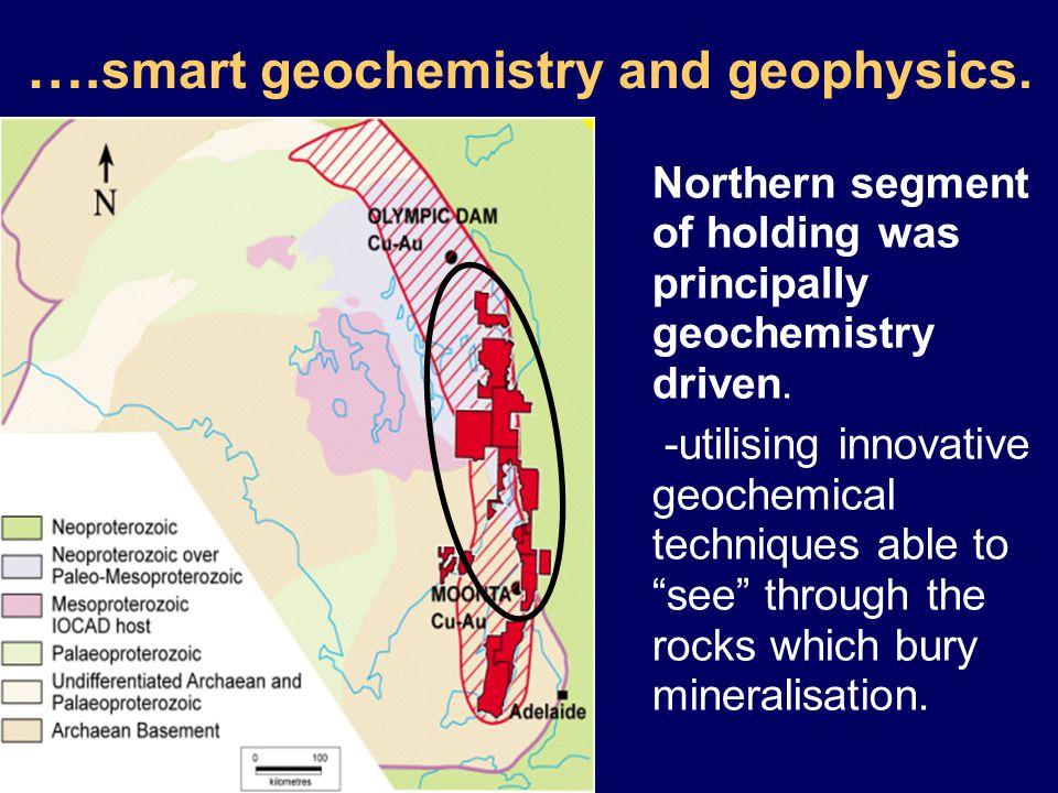 …. smart geochemistry and geophysics.