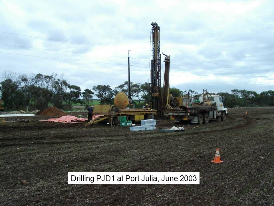 Drilling PJD1 at Port Julia, June 2003