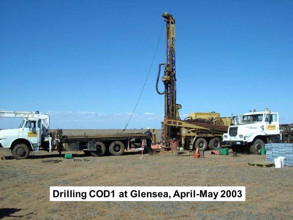 Drilling COD1 at Glensea, April-May 2003