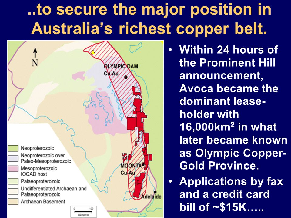 ..to secure the major position in Australia's richest copper belt.