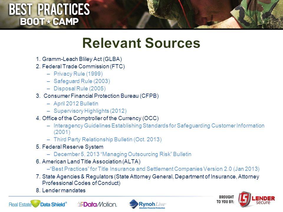 Regulatory Requirements Lender Requirements ALTA Best Practices September 2014 .