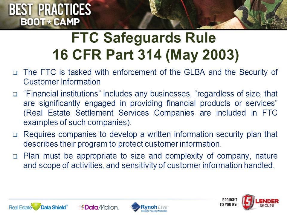 This Bulletin represents the third regulator bulletin in less than two years cautioning lenders about the risk and responsibilities associated with using Service Providers Risk From Use of Service Providers: –If not managed effectively, the use of Service Providers may expose financial institutions to risks that can result in regulatory action, financial loss, litigation, and loss of reputation.