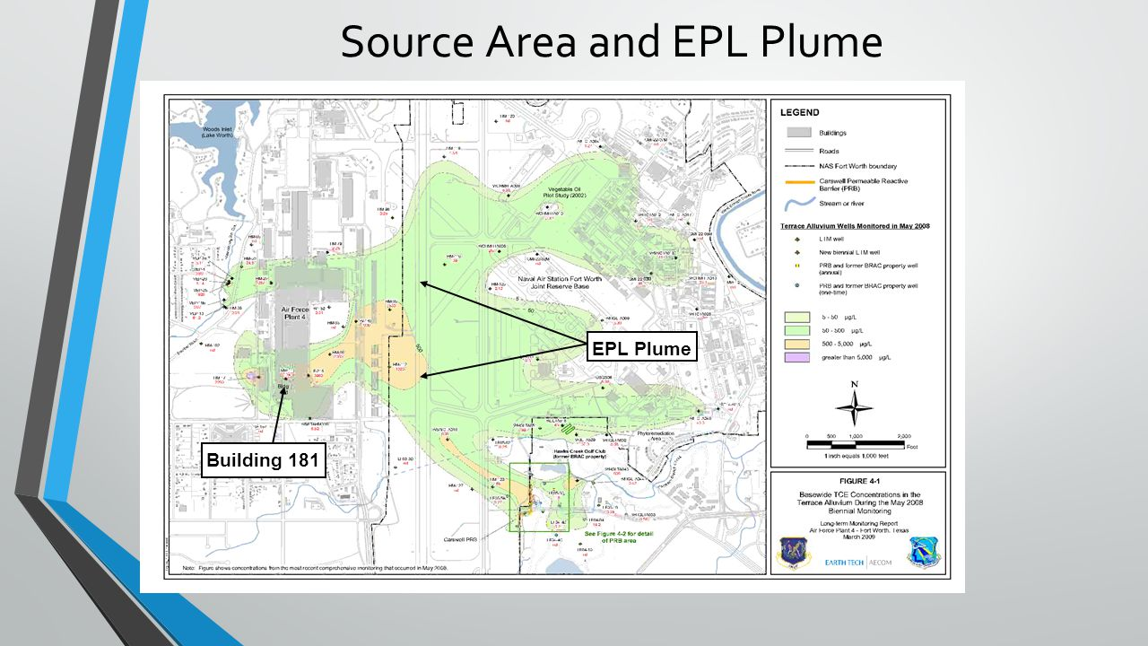 Source Area and EPL Plume Building 181 EPL Plume