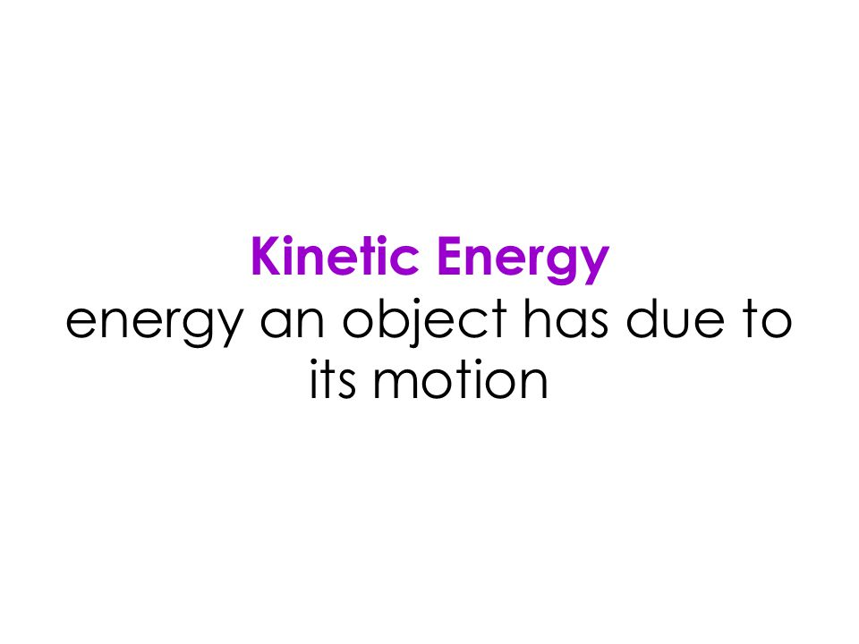 Mechanical Energy energy from moving parts